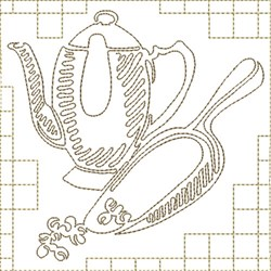 Coffee and Scoop embroidery design