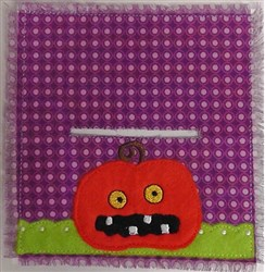 Jack-o-lantern Bag Topper embroidery design