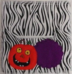 Pumpkin Bag Topper embroidery design