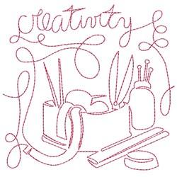 Creativity embroidery design