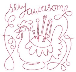 Sew Awesome embroidery design