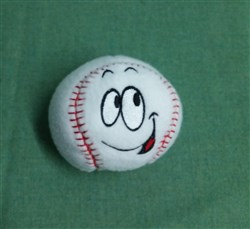 Silly Softie Baseball 01 embroidery design