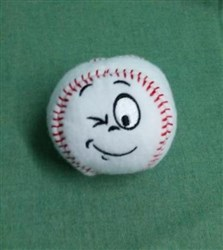 Silly Softie Baseball 08 embroidery design