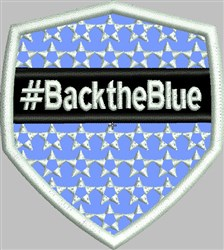 Back The Blue embroidery design