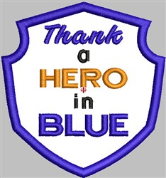 Hero In Blue embroidery design