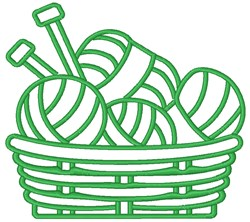 Basket Of Yarn embroidery design