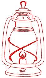 Hurricane Storm Lantern embroidery design