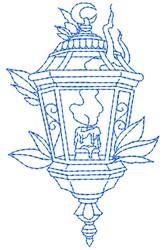 Vintage Candle Lantern embroidery design