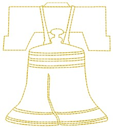 Liberty Bells embroidery design