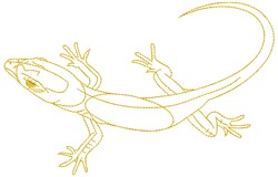 Gecko embroidery design