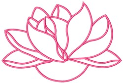 Lotus embroidery design