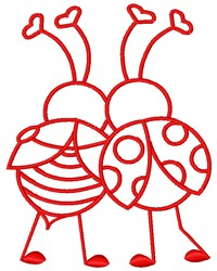 Love Bugs embroidery design