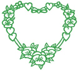 Pansy Hearts embroidery design