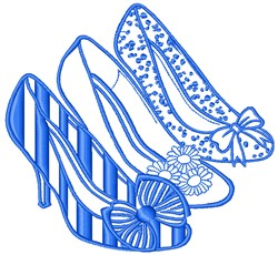 High Heeled SHoes embroidery design