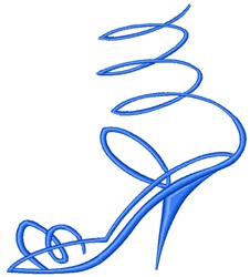 Stiletto High Heel Shoe embroidery design
