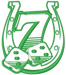 Lucky Number 7 embroidery design