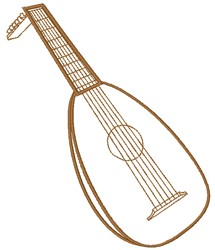 Lute String Instrument embroidery design