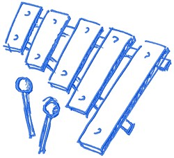 Xylophone embroidery design