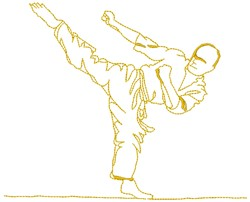 Martial Art embroidery design