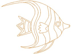 Angelfish embroidery design