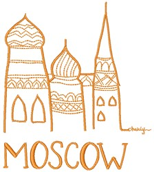 Moscow embroidery design