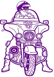 Policeman embroidery design