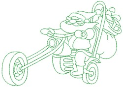 Motorcycle Santa embroidery design