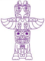 Totem Pole embroidery design