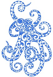 Octopus Art embroidery design