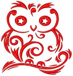 Swirl Owl embroidery design