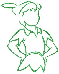 Peter Pan embroidery design