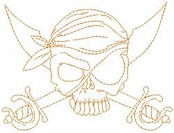 Pirate Crossbones embroidery design