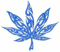 Embellished Leaf embroidery design