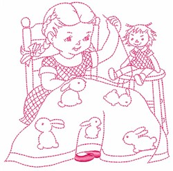 Sewing Girl embroidery design