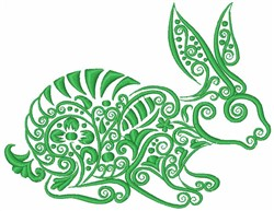 Swirly Rabbit embroidery design