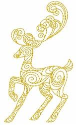 Reindeer Swirl embroidery design