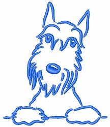 Scottish Terrier embroidery design