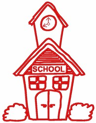 School embroidery design