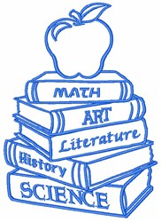 Schoolbooks embroidery design