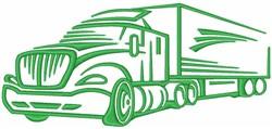 Semi Truck embroidery design