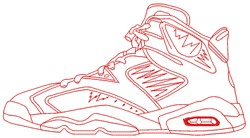 Sneaker embroidery design