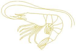 Shrimp embroidery design