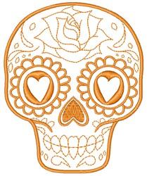 Sugar Skull embroidery design