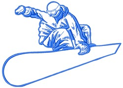 Snowboarder embroidery design