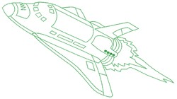 Spaceship embroidery design