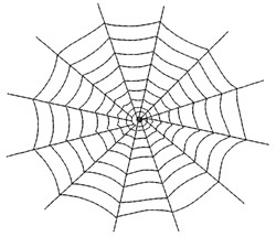 Spiderweb embroidery design
