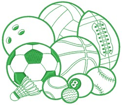 Sports Balls embroidery design