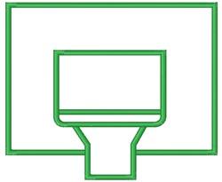 Basketball Backboard embroidery design