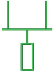 Football Goal Post embroidery design