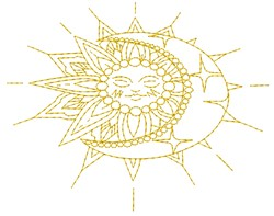 Sun And Moon embroidery design